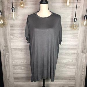 BLVD Grey Oversized Contrast Shirt Size L